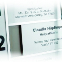 Schilder-Rahmenanlagen