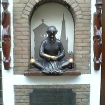 Bronzegußschild