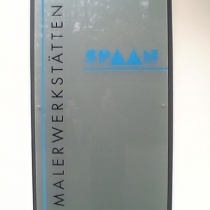 Plexiglasschild Maler Spaan
