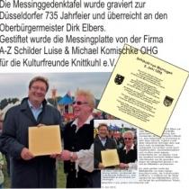 Gedenktafel 725 Jahre Düsseldorf